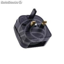 EU to UK Adapter plug with 2 pin female round C plug to BS1363 male plug fixed