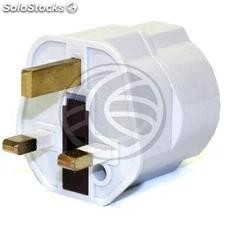 EU to UK Adapter plug with 2 pin female round plug to BS1363 male plug white