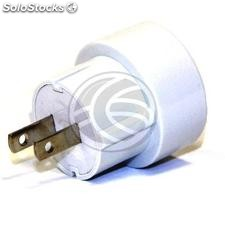 Europe to USA adapter plug pin schuko type tripolar female to NEMA-5-15P plug