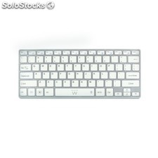 Ewent - EW3146 Bluetooth QWERTY Color blanco teclado