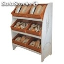 Exhibitor bread-mod. extravirgo-with 6 sloping baskets-dimensions cm l 50 x 110