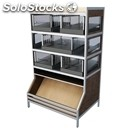 Exhibitor self-service bread-mod. sandwich glof m-levy with scoop-# 4 drawers