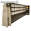 Exhibitor self-service bread-mod. self service c-levy with gloves-50 lt drawers
