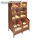 Exhibitor self-service packaged bread-mod. self-service pack-packed products-top