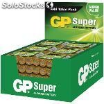 Expositor de pilas alcalinas AAA/LR03 1.5 v super 48 packs de 4 pcs