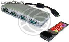 ExpressCard Serie rs-232 (4-Port) Tipo pcie (TS47)