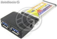 ExpressCard to USB 3.0 2-port external (UU02)