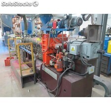 Extruder with 2 co-rotating spindles, ICMA SAN Giorgio brand with 50 mm