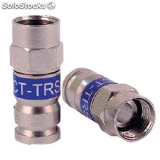 F-connector 6.0 Mm Male Metal Silver