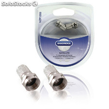 F-connector Male Metal Silver
