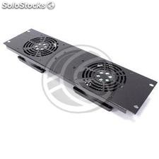 Fan kit for server rack cabinet 19 inch 3U with 2 fans fix to the frame