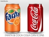 Fanta Orange and Coca-cola