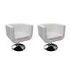 Fauteuil Design Club Blanc x2 - Photo 1