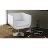 Fauteuil Design Club Blanc x2 - Photo 2