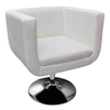 Fauteuil Design Club Blanc x2 - Photo 3