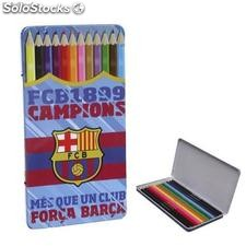 FC Barcelona 12 Bleistifte in Metall-Box