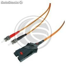 FDDI fiber optic cable to ST multimode duplex 62.5/125 of 1 m (FI61)