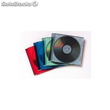 Fellowes - 98317 Caja transparente para CD 1discos Multicolor funda para discos