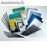Fellowes pack de 50 canutillos plastico negros 25 mm 5348504