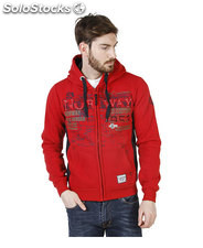 felpe uomo norway geographical rosso (41221)