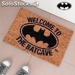 Felpudo welcome to the batcave