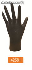 Female hand in black