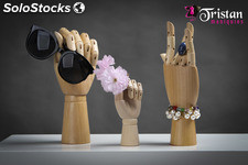 Female wooden hand articulable 25 CM