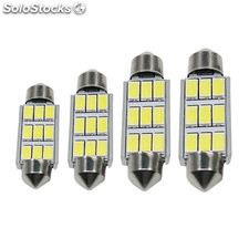 Festoon LED tipo fusible 36mm 39mm 42mm Dome 9SMD 5630 5730 CANBUS luz coche