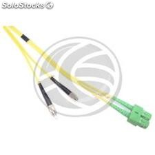 Fiber Optic Cable FC/PC to SC/APC duplex singlemode 9/125 of 10 m (FK26)