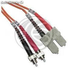 Fiber Optic Cable FC to SC duplex multimode 62.5/125 of 1 m (FJ21)