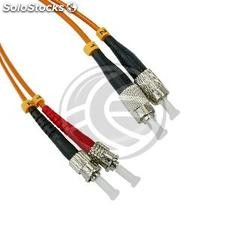 Fiber Optic Cable FC to ST duplex multimode 62.5/125 of 1 m (FJ01)