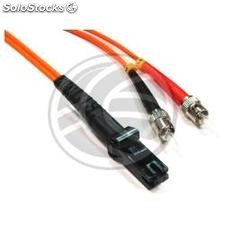Fiber Optic Cable MTRJ to ST 62.5/125 Multimode Duplex 5 meter (FO54)
