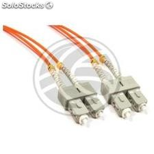 Fiber Optic Cable SC to SC duplex multimode 62.5/125 of 1 m (FO61)