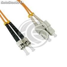 Fiber Optic Cable ST to SC duplex multimode 62.5/125 25 m (FO89)