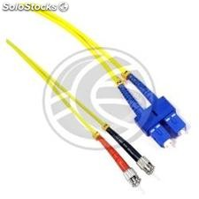 Fiber Optic Cable ST to SC duplex singlemode 9/125 of 15 m (FD37)