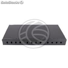 Fiber Optic Patch Panel 1U for 12 SC black (FQ01-0003)