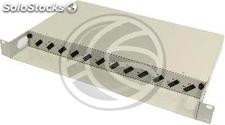 Fiber Optic Patch Panel 1U for 12 SC duplex beige (FQ13-0002)