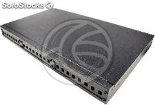 Fiber Optic Patch Panel 1U for 24 ST black (FQ05)