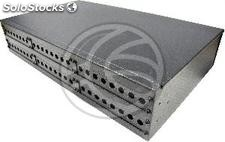 Fiber optic patch panel black 2U 48-FC (FQ09)