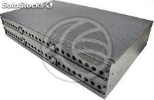 Fiber optic patch panel black 2U 48-ST (FQ08)