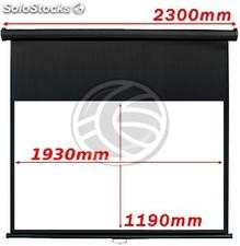 Fiberglass black wall projection screen DisplayMatic PRO 16:9 1930 x 1085mm