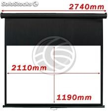 Fiberglass black wall projection screen DisplayMatic PRO 16:9 2110 x 1190mm