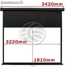 Fiberglass black wall projection screen DisplayMatic PRO 16:9 3220 x 1810mm