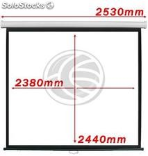 Fiberglass white projection screen DisplayMatic PRO 1:1 2380 x 2440mm (OY05)