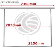 Fiberglass white wall electric projection screen DisplayMatic PRO 1:1 2070 x