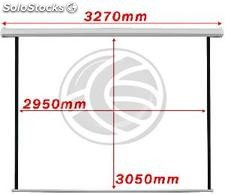 Fiberglass white wall electric projection screen DisplayMatic PRO 1:1 2950 x