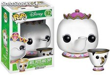 Figura Funko Pop Mrs. Potts & Chip Disney - La Bella y la Bestia