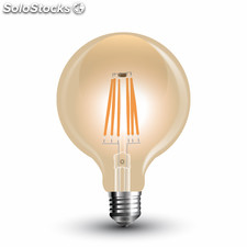 "Filamento de led gold vintage ""Long Filament"" Bombilla 6W G125 2200K"