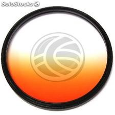 Filter gradual orange color photographic lens of 62 mm (JN13)