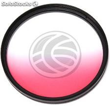 Filter gradual pink color photographic lens of 62 mm (JN43)